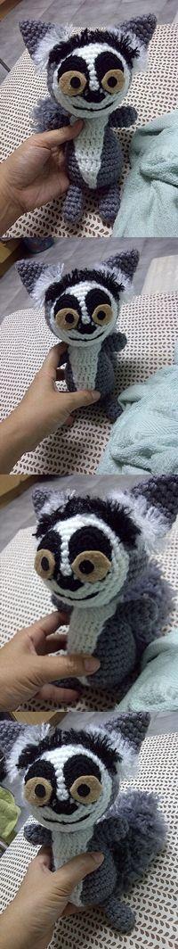 raccoon dolls crochet