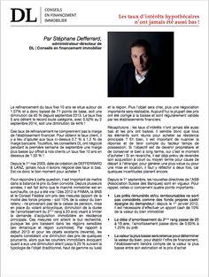 #Conseil #Immobilier #Financement #Investissement #Banque: Les effets des taux hypothécaires bas. Dans votre #IMMOmagazine No.26