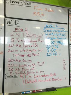Crossfit WOD. If you are training for the open you should do workout number 2 if not do workout number 1.