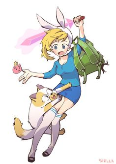 adventure time fionna and cake | Fionna and cake by stellapupa-d4bem7x