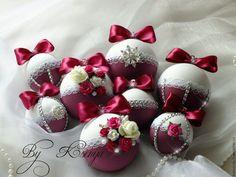 Купить Новогодние шары ручной работы - комбинированный, шары, шары на елку, шары новогодние