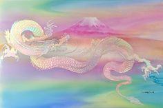 キラキラ輝くあなたのために・・・☆ 虹色の龍-龍神の女神に  ☆