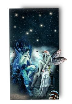 """Fairies in Love"" by auntiehelen ❤ liked on Polyvore featuring art"