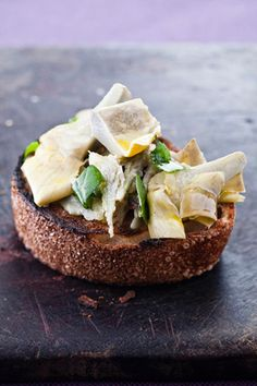 Mario Batali recipe for Carciofi alla Romana (artichoke, onion, mint, zest...appetizer)
