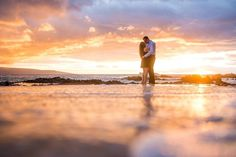 He took her to a secret cove in Maui at sunset for the perfect beach proposal.