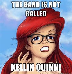 Lol xD Sleeping with Sirens <3. No it's not. Where would Kellin be without the guys? Huh?? Sleeping with sirens would not even be without the other guys!
