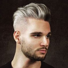 Silver Hair + Pomp Fade + Beard #virileman5