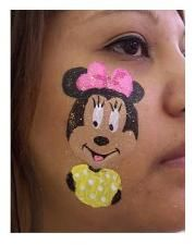 DIY Minnie Mouse Face Paint #DIY #FacePainting #CheekArt #Birthdays #Birthday #Party #Parties #Disney