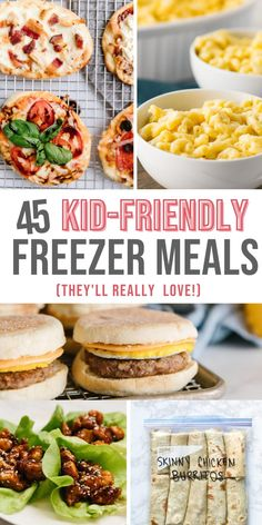 Healthy Freezer Meals, Make Ahead Meals, Freezer Cooking, Freezable Meals, Crockpot Kids Meals, Freezer Meal Recipes, Cooking Recipes, Picky Eater Lunch, Picky Eaters Kids