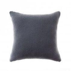 nice Home Republic Santona Cushions - Modern Gray Cushions For Sale, Knitted Cushions, Cushions Online, Grey Cushions, Linen Bedroom, Bedroom Decor, Master Bedroom, Bedroom Ideas