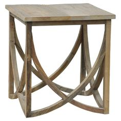 Add an eye-catching touch to your living room or den with this chic end table, showcasing an upcycled elm wood frame and a sweeping open base.  Juliet End Table $394  ...