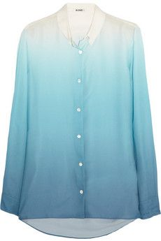 Acne Pat Degradé crepe shirt | THE OUTNET