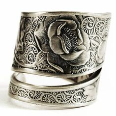 Victorian Rose Ring Silver Rose Jewelry Sterling Silver
