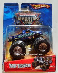 2006 Hot Wheels #25 Blue Thunder Monster Jam 1:64 Truck Retired #HotWheels