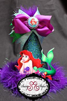 Little Mermaid Ariel Birthday Hat Accessory and by SassyStylesbySS, $20.00