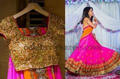 Pink Half Saree | Saree Blouse Patterns