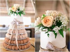Caitlin + Kenneth // Wedding Macaroon Cake