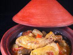 cuisse de poulet, courgette, pomme de terre, carotte, tomate, oignon, épice, cumin, huile d'olive, eau