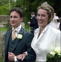 The 13th Duke, Torquhil, wed Eleanor Cadbury on 8 June 2002. Image courtesy of Top Foto