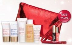 Clarins 2012 Holidays 9-Piece Skin Care Beauty Travel Gift Set: Vital Light Day Cream + Vital Light Night Cream + Beauty Flash Balm + Gentle Foaming Cleanser + Toning Lotion with Camomile + Mini Instant Smooth Line Correcting Concentrate + Mini Instant Definition Mascara + Mini Gloss Prodige in 08 Papaya + a Cosmetic Bag (a .... $49.99. Product DescriptionClarins 2012 Holidays 9-Piece Skin Care Beauty Travel Gift Set
