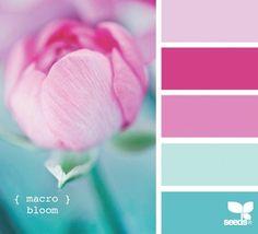 Spring wedding colors.