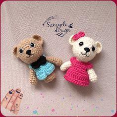 Weasels of Samyeli: Teddy Bear Finger Puppet Recipe (ENGLISH) de ganchillo patrones gratis Crochet Bear, Crochet Animals, Crochet Dolls, Free Crochet, Finger Puppet Patterns, Puppets, Free Pattern, Pattern Art, Crochet Patterns