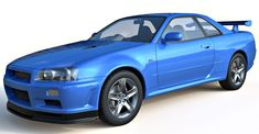 Nissan skyline, mid poly 3d model with required materials for 3ds max. Detailed exterior with medium detailed interior, Included Obj format, perfect for architectural rendering and visualization.