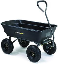 Gorilla Carts Poly Garden Dump Cart with Steel Frame and 10 in. Pneumatic Tires, Capacity - Black for sale online Off The Grid, Yard Cart, Beach Wagon, Best Garden Tools, Wheelbarrow Garden, Thing 1, Home Vegetable Garden, Home And Deco, Garden Supplies