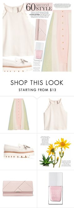 """""""60 Second Style: Asymmetric Skirts"""" by aislinnhamilton1993 on Polyvore featuring Peter Pilotto, Grenson, Michael Kors, The Hand & Foot Spa, Summer, pastel, asymmetricskirts and 60secondstyle"""