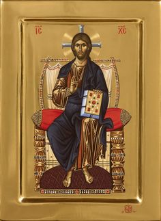 God and Jesus Christ Images Of Christ, Religious Images, Religious Icons, Religious Art, Byzantine Icons, Byzantine Art, Faith Of Our Fathers, Christ Pantocrator, Church Icon