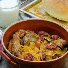 Sauerkraut with pork ribs {traditional Hungarian - recipe in English}