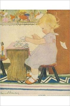 Amazon.com: Photographic Print of My Tea Party by Muriel Dawson: Posters & Prints