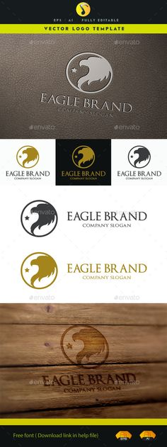 Eagle Brand V.2 Logo Design Template Vector #logotype Download it here…