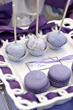 Purple Cake Pops 75th Birthday