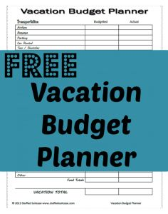 Planner download budget