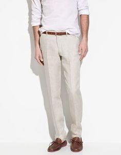 Summer outfit - woven fedora, cotton shirt, linen pants | Men's ...