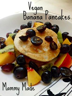 Mammy Made: Meals on the Cheap: Vegan Banana Pancakes (with Homemade Almond Milk)
