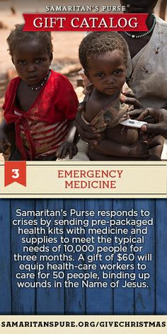 Equip health care workers with emergency medicine to save lives in Jesus' Name. Click to give.