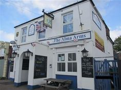 The Alma Arms, Highland Road, Southsea. This small community local has stood on this site since at least the middle of the 19th century. Now converted to flats.