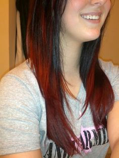 Red ombre hair <3