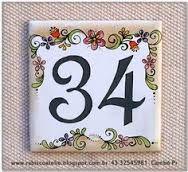 numeros para casas en ceramica - Buscar con Google