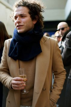 Celine Backstage, p.2 « The Sartorialist. A well dressed man holding a glass of champagne. Classy.