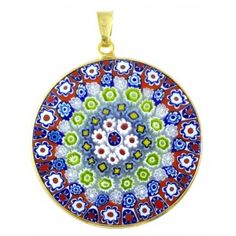 Millefiori pendant authentic venetian glass pendant murrina millefiori pendant authentic venetian glass pendant murrina millefiori beautiful venetian murano glass jewelry pinterest mozeypictures Choice Image