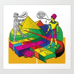 The mummy returns!  Art Print by vidhi shah - $14.56