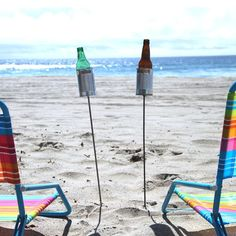 Tin can drink holders for the beach (redneck holders?) | http://www.thefancy.com/things/129839419245989937/Hobo-Tin-Can-Beer-Holders