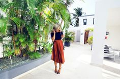 chic black and chocolate outfit