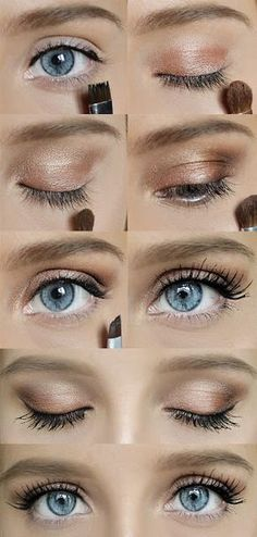 Simple and classic eye make up