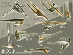 Lincoln Hood Ornaments 1940-55