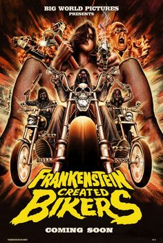 Frankenstein Created Bikers Movie Poster - Internet Movie Poster Awards Gallery