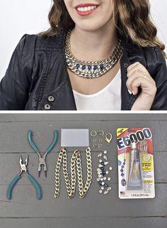 DIY Gem Statement Necklace